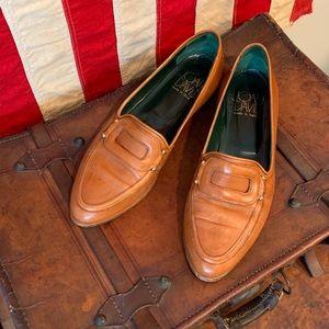 VTG Joan & David Cognac Leather Loafers
